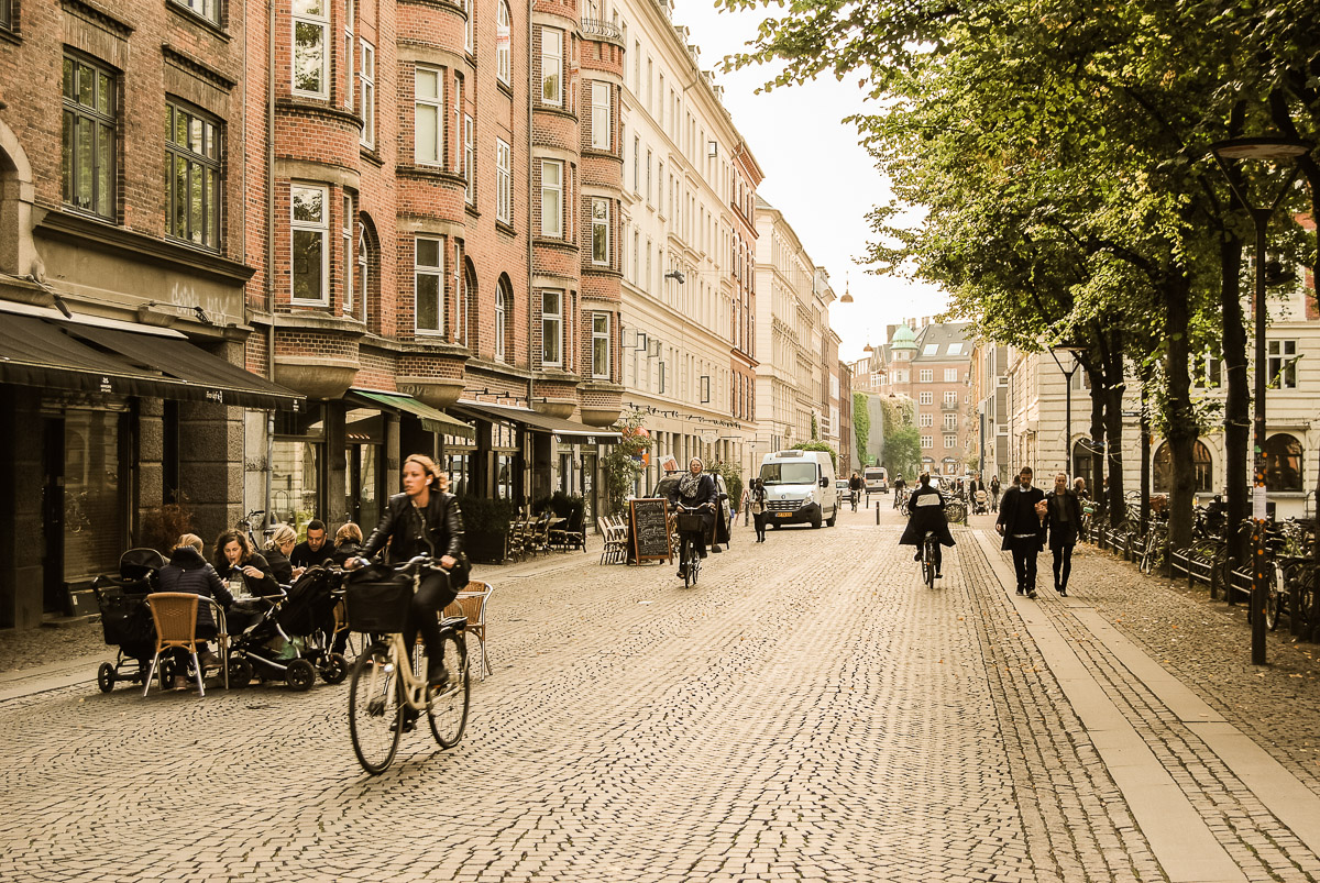 This is from Norrebro, close to a small park and many cafés. Brick buildings and bikes. I can not overstate how many bikes there were. They were literally everywhere.